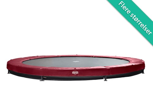 Berg Elite InGround Trampolin Rød - 430 cm