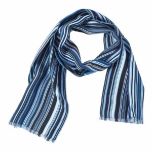 Blue Checkered Scarf