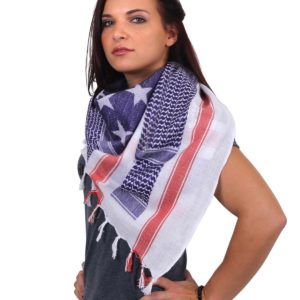 Rothco US Flag Shemagh Tactical Desert Scarf Red, white, blue