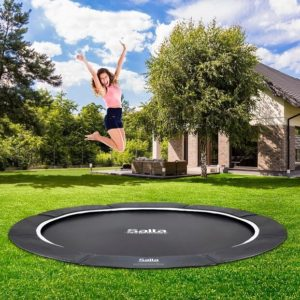 SALTA Trampolin Royal Baseground Sport Ø396 cm ekskl. net, sort
