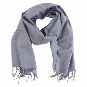 Scarf Lana Wool Dark Light Grey