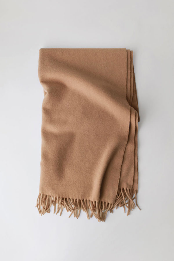ACNE JEANS Canada Scarf Wool, Caramel Brown