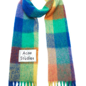 ACNE STUDIOS Vally Scarf Fn-ux-scar000029, Blue/orange/green