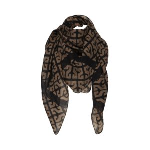 Sofie Schnoor - Scarf, Stevia - Black / Brown