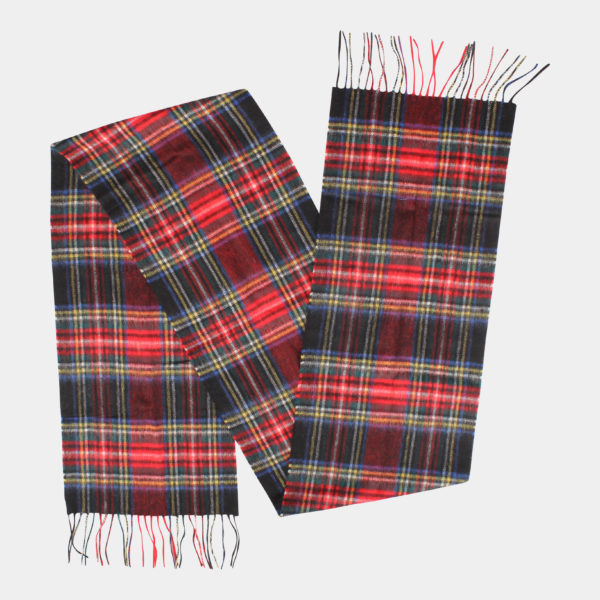 Barbour Scarf New Check Black Stewart