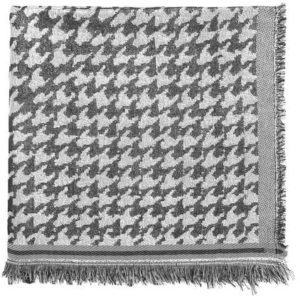 Beck Söndergaard - Esther Houndstooth Scarf - Black - 100x100 cm