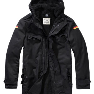 Brandit BW Parka m. Flag (Sort, XL)