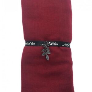 Just d'lux - Single coloured scarf - Dark red